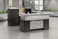 High end Reception & Lobby desks from Boca Office Furniture.