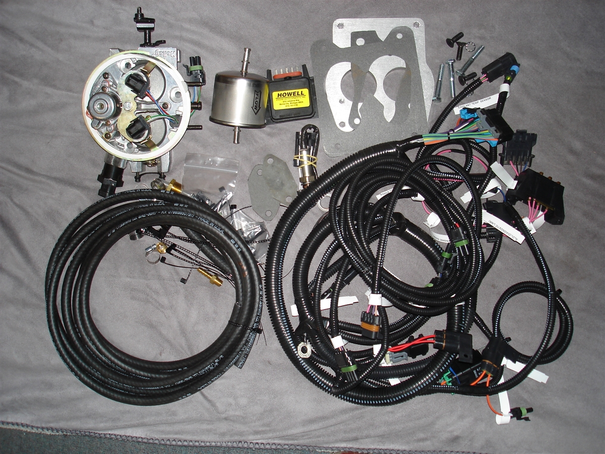 hight resolution of howell throttle fuel injection system with distributor harness ebl flash and electronic distributor