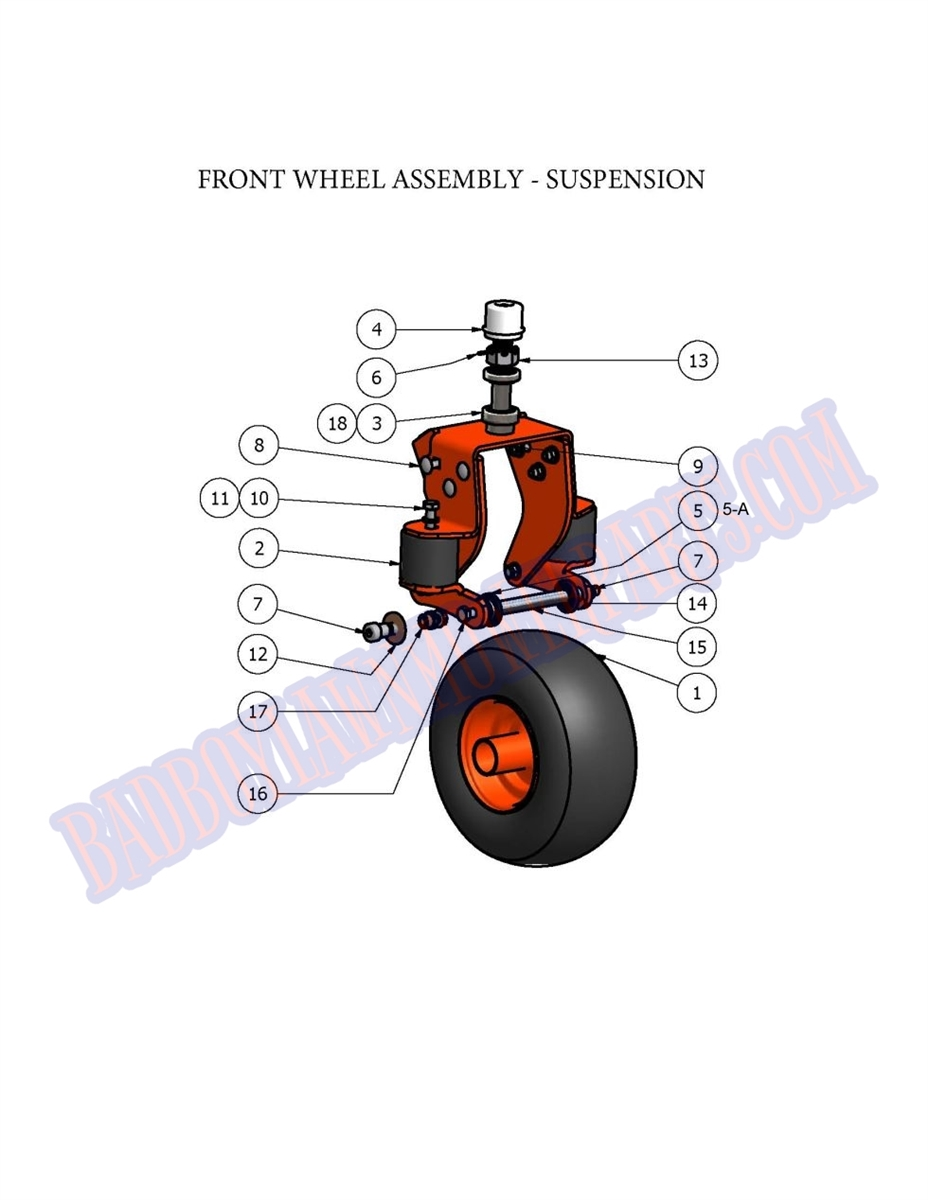 hight resolution of bad boy mower part 2007 diesel front wheel with suspension 1 bad boy buggies 48v wiring diagram bad boy buggy front end parts diagram