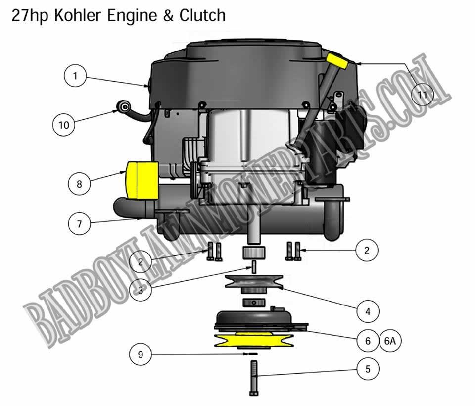 bad boy mower part 2010 zt 27hp kohler engine [ 960 x 820 Pixel ]