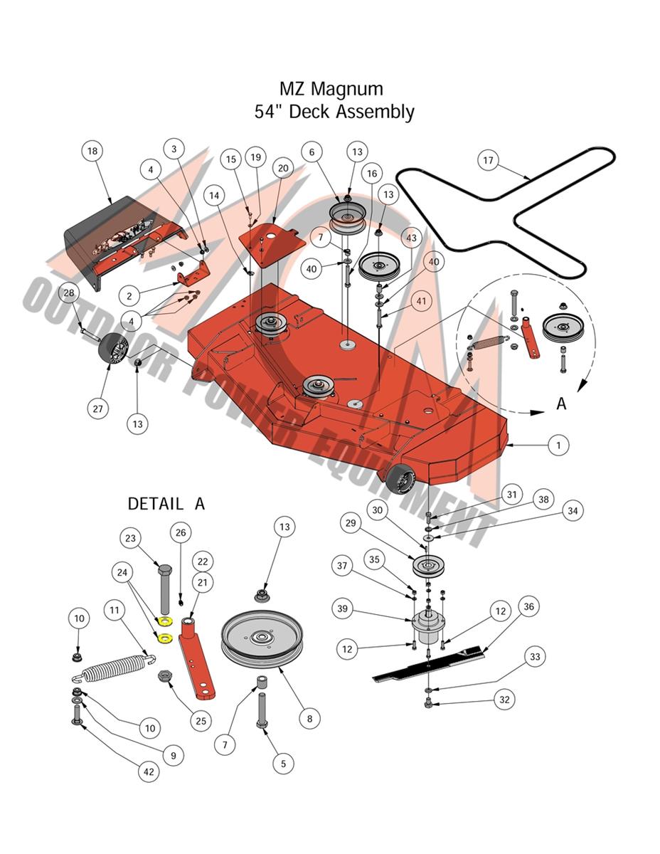 medium resolution of bad boy mower part 2016 mz magnum 54 deck assembly
