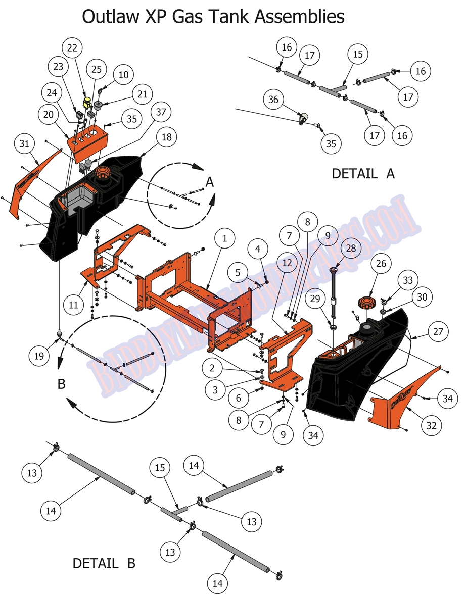 hight resolution of bad boy mower part 2016 outlaw xp fuel tank assemblies 72 gas tank diagram