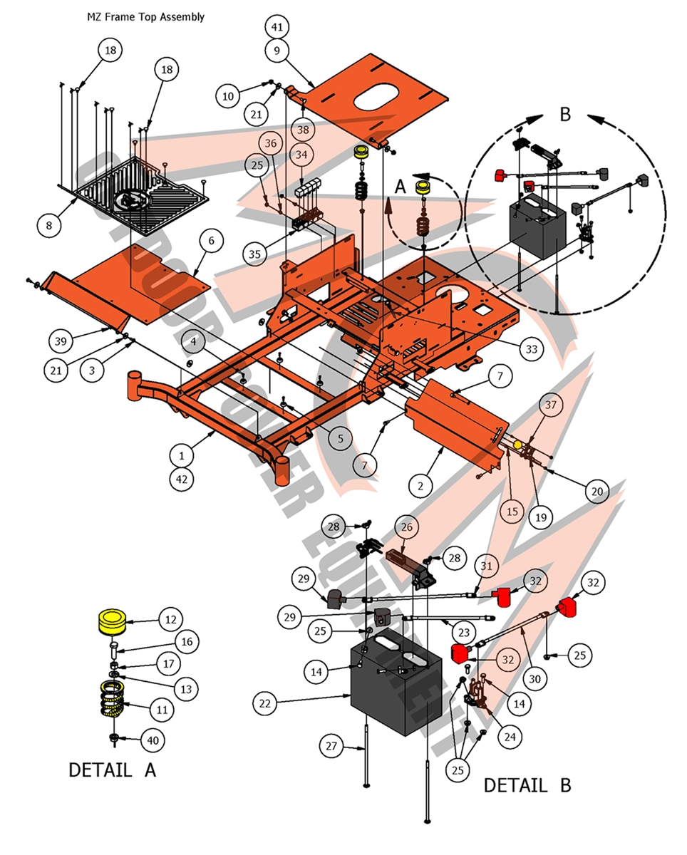 medium resolution of bad boy mower part 2017 mz mz magnum frame top assembly