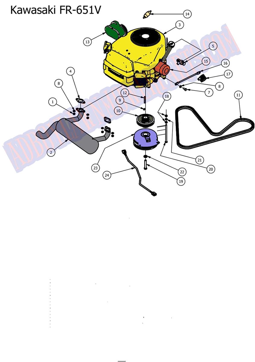 hight resolution of bad boy mower part 2012 stand on engine kawasaki fr651v