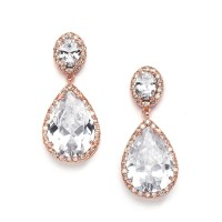Best-Selling Cubic Zirconia Rose Gold Pear-Shaped Bridal ...