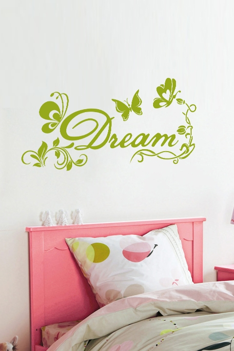 wall decals floral butterfly dream walltat