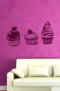 Cupcakes Wall Decals, Wall Stickers Art Without Boundaries ...
