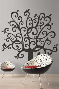 Wall Decals Whimsical Tree | WALLTAT.com