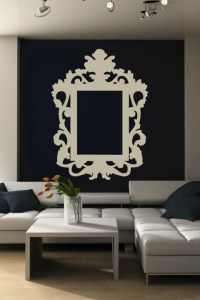 Wall Decals Baroque Frame- WALLTAT.com Art Without Boundaries