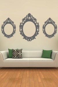 Oval Baroque Frame Wall Decal