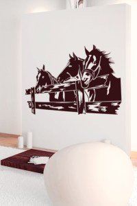 Wall Decals Horse Corral- WALLTAT.com Art Without Boundaries