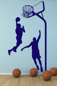 Wall Decals Basketball- WALLTAT.com Art Without Boundaries