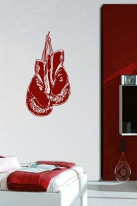 Wall Decals Boxing Gloves - WALLTAT.com Art Without Boundaries
