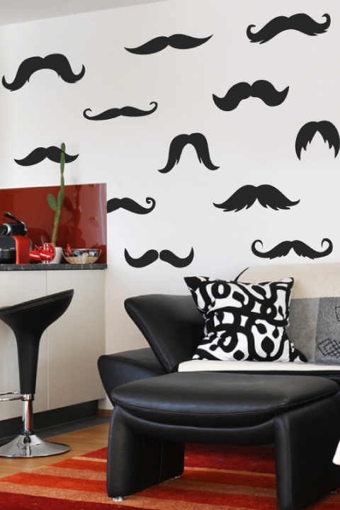 Mustache Wall Decal Wall Art From Trendy Wall Designs | iltribuno.com