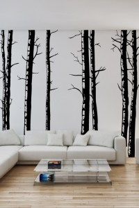 Wall Decals Birch Trees- WALLTAT.com Art Without Boundaries