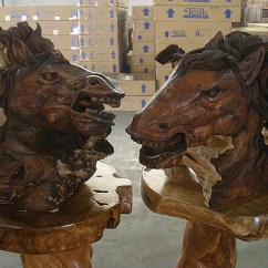 Teak Folding Chairs And Table Ideas For Chair Covers Horse Head Sculpture - Set 2