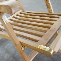 Teak Steamer Chair Desk Mesh B C Product Description