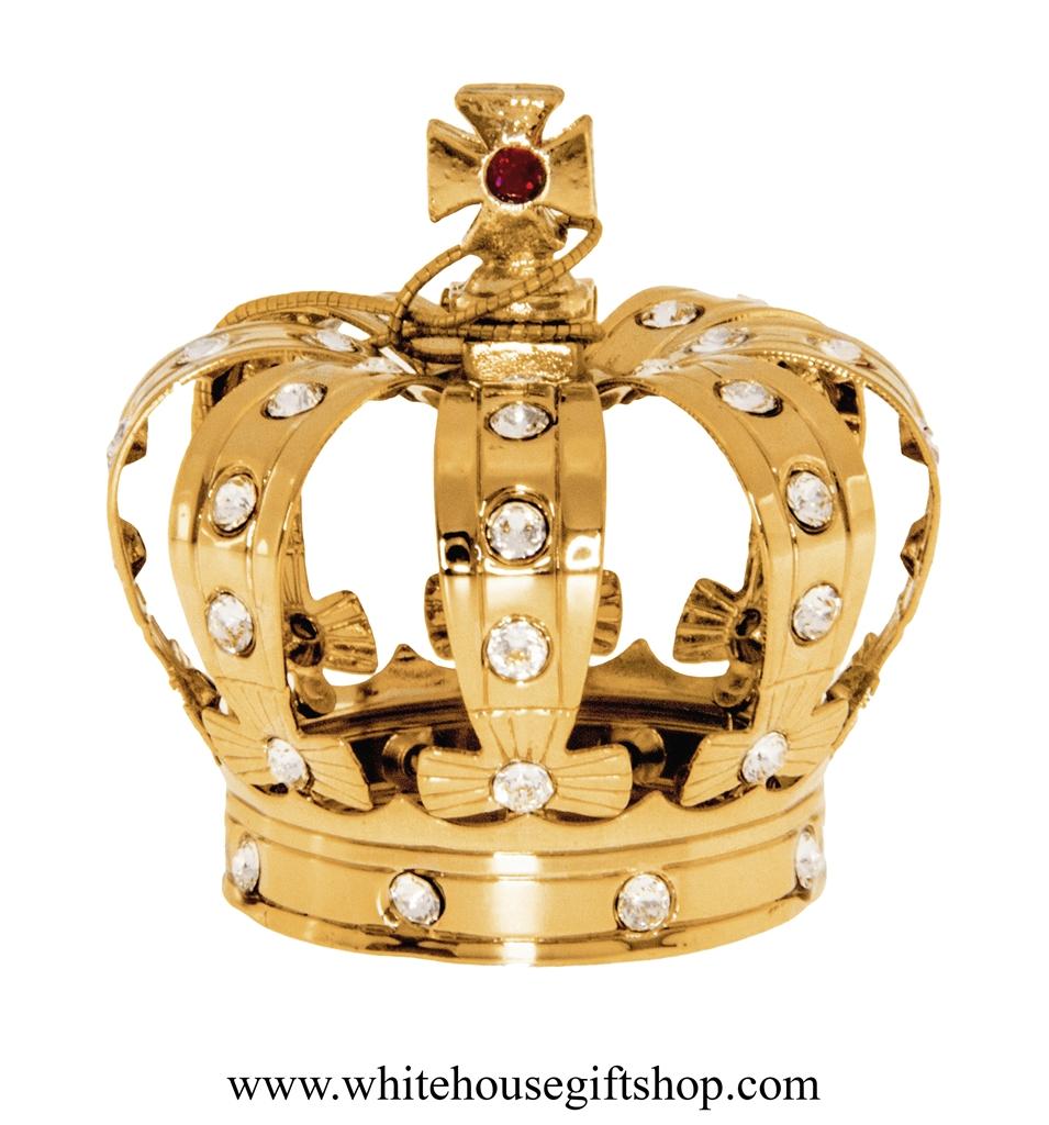 Ornament Gold Royal King' Crown Desk Model