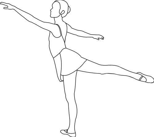 Arabesque Ballet Position Coloring Sheets Coloring Pages