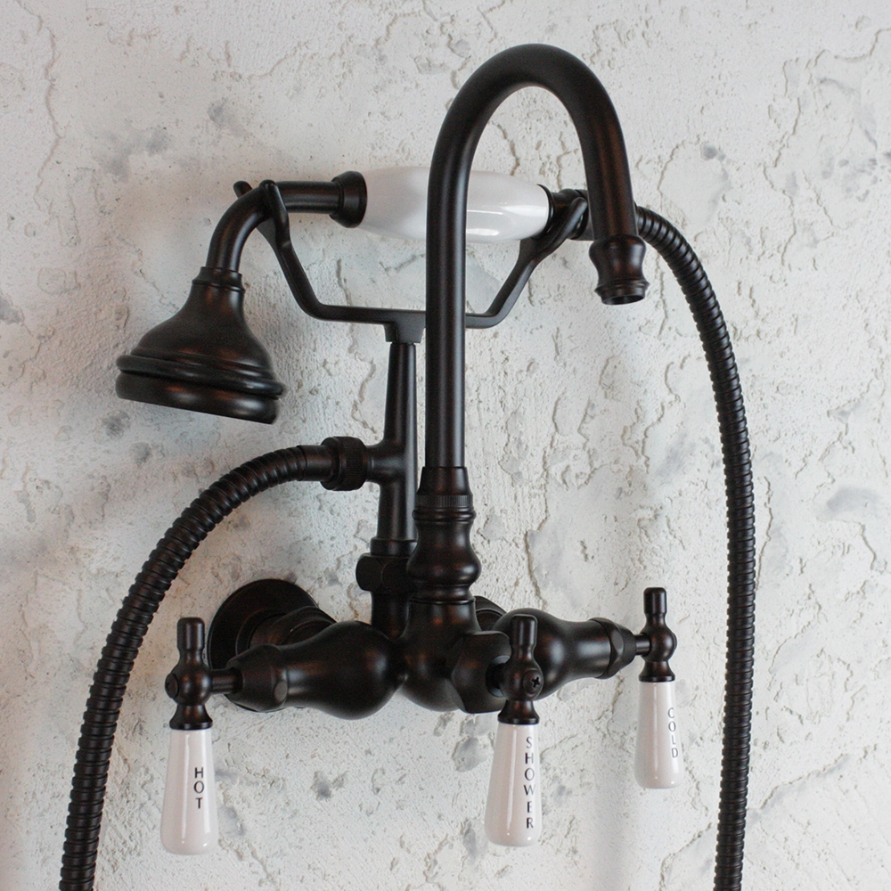 sale ef10twmorb edwardian wall mount tub faucet with handheld shower in oil rubbed bronze