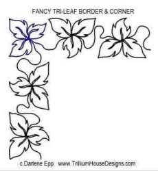 border fancy leaf corner tri designs quilting
