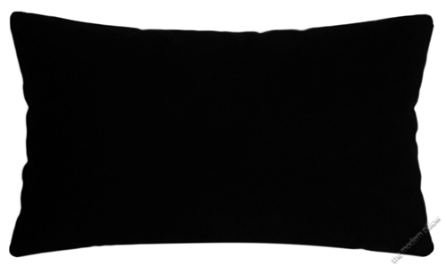 12x16 jet black solid cotton decorative throw pillow cover cushion cover