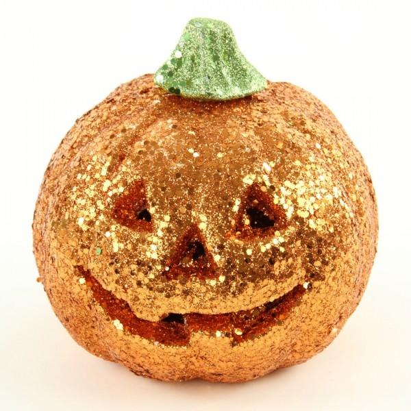 orange glitter pumpkin with