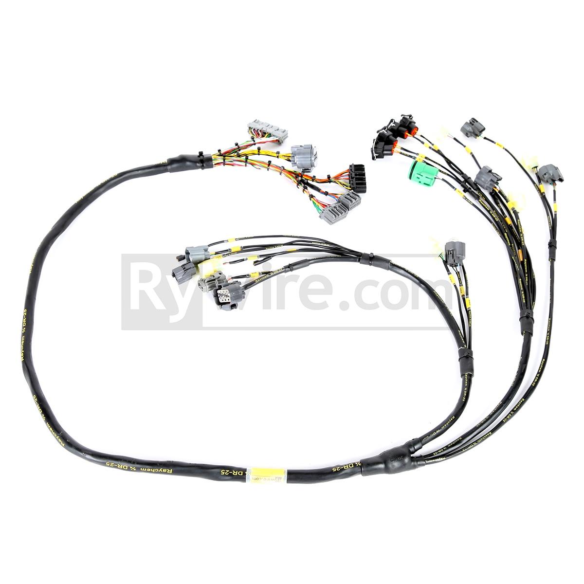 hight resolution of obd1 mil spec d b series tucked engine harness honda obd1 wiring harness mil spec