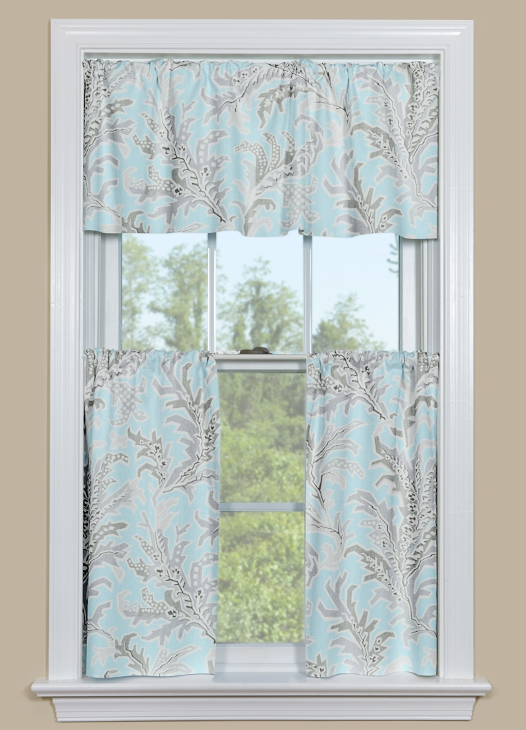 blue kitchen valance play for toddlers and grey beach themed curtain tempest