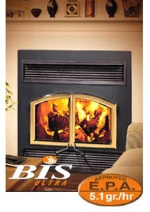 Security BIS Ultra Wood Fireplace at Obadiahs Woodstoves