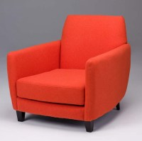 Orange Accent Chair | Faux Wool Accent Chairs | Seriena ...