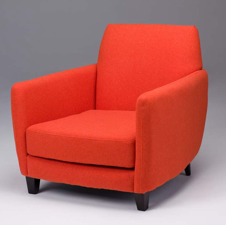 purple accent chairs sale chair cover rentals in baltimore maryland orange faux wool seriena furnishing barcelona sofa upholstered red