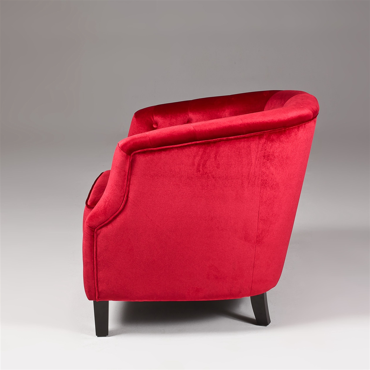 Red Velvet Sofa  Red Accent Chair  Velvet Accent Chair