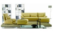 Yellow Sectional Sofa Modern Yellow Leather Sectional Sofa ...