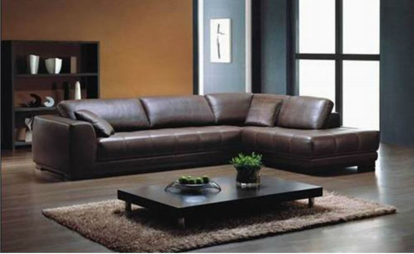 Red leather sectional  L shaped sectional sofas  Red leather sofa  Leather sectional