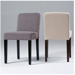 Yellow Upholstered Dining Room Chairs Curved Corner Chair Low Back Linen Seriena In Beige Gray Red Or Black
