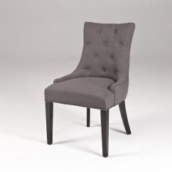 Tufted Dining Room Chairs The Silver Chair Book Gray Linen Modern