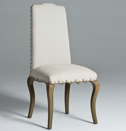 high back dining chair big boy chairs uk linen solid seriena in beige gray luxury with nail