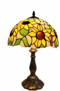Tiffany lamp Sun Flower Design Zinc Base |Seriena Tiffany ...