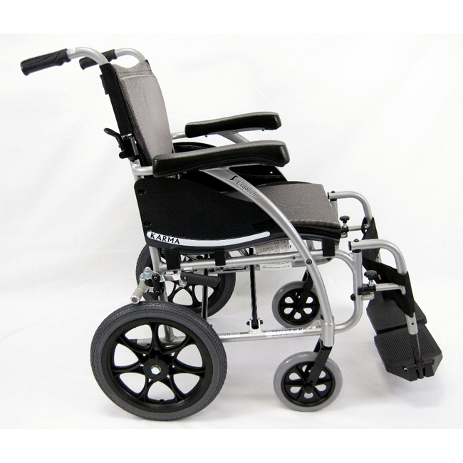 transport wheel chair fishing legs karman healthcare s ergo 115 lightweight wheelchair