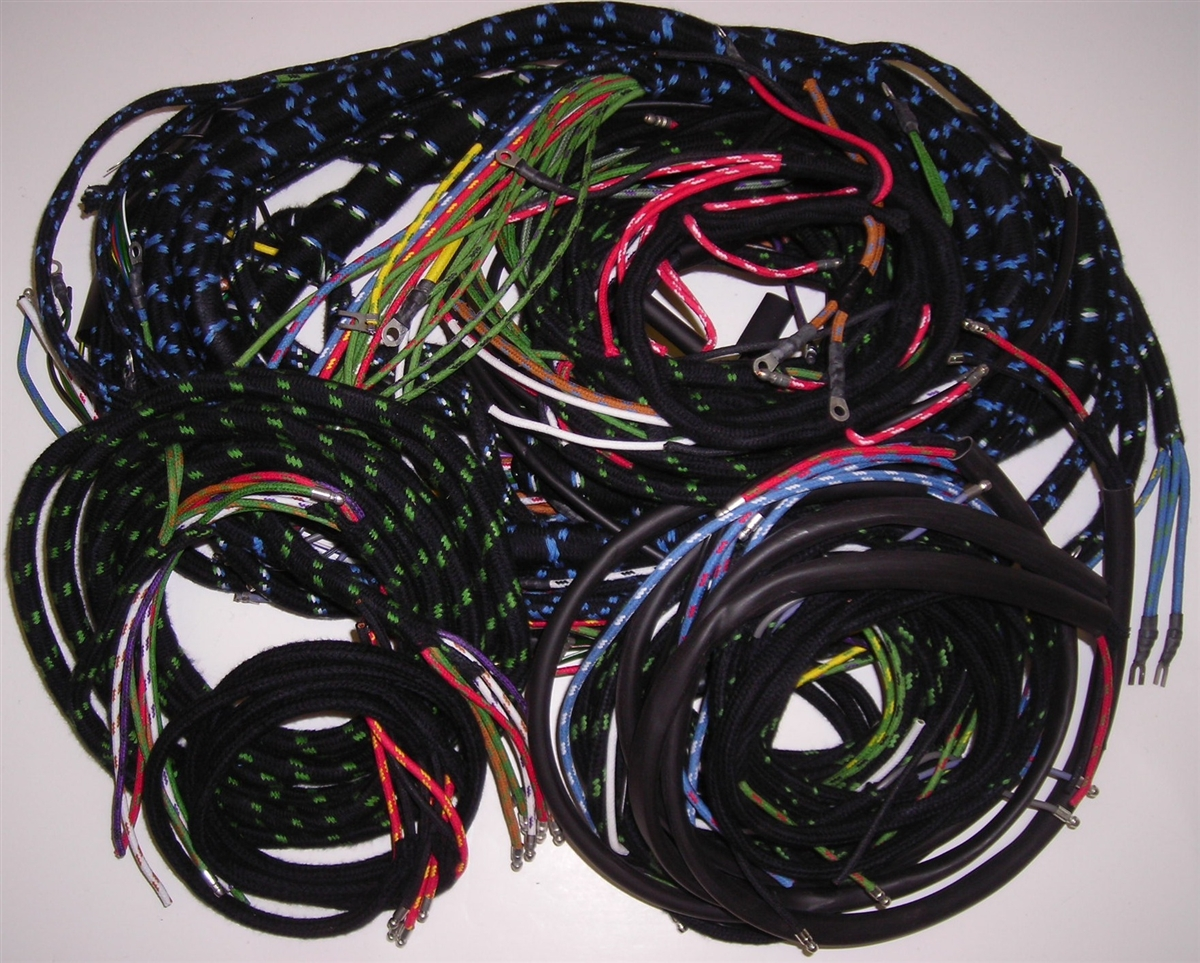 small resolution of wiring harness set for early jaguar xk150 with manual transwiring harness jaguar xk150 4