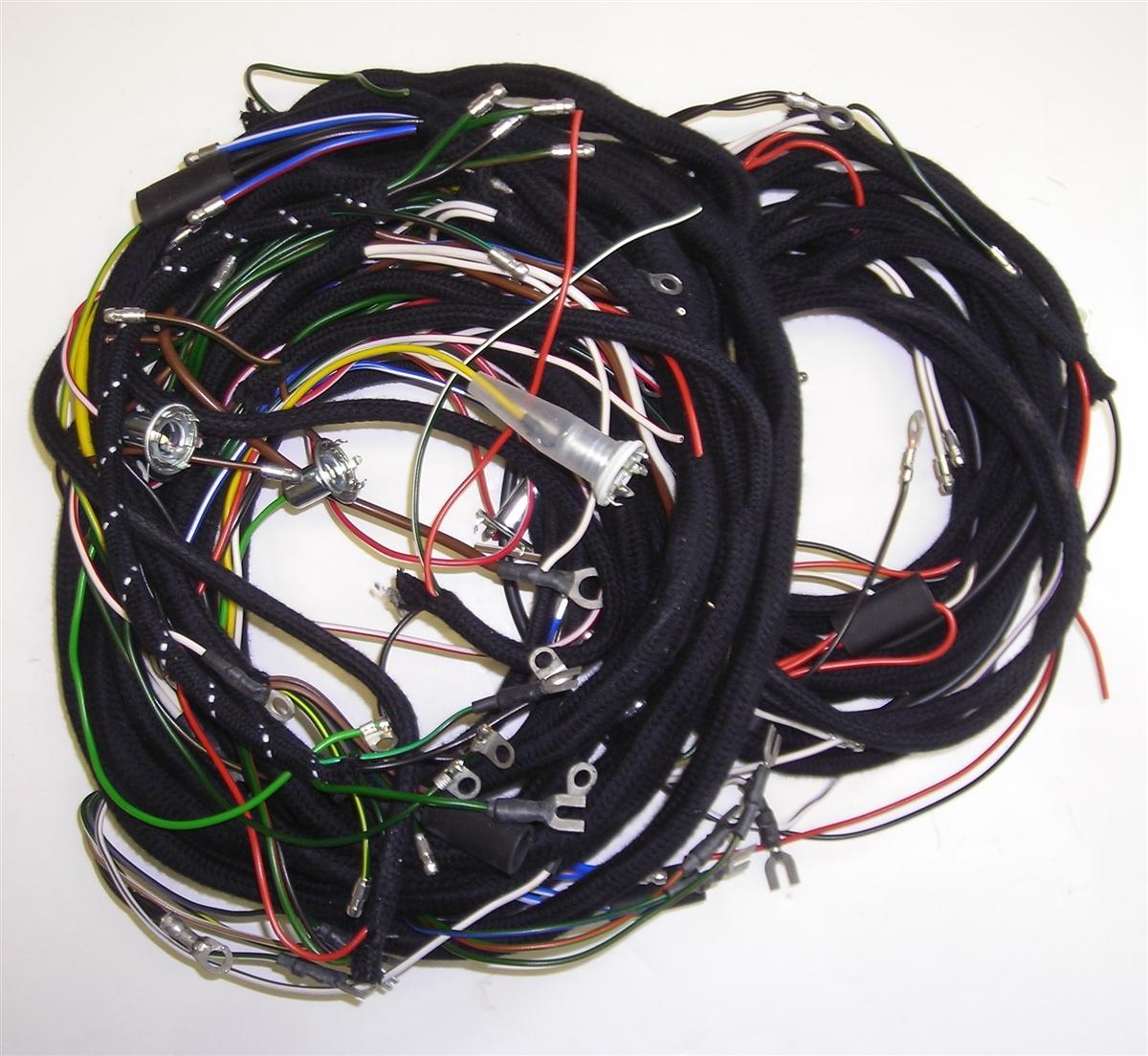 austin healey bn6 1958 harness set pvc cable  [ 1200 x 1104 Pixel ]