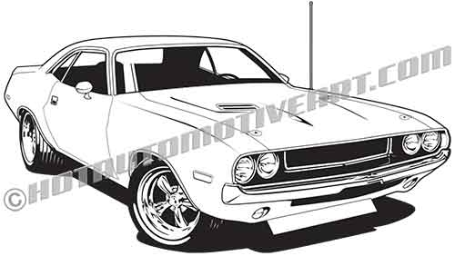 1970 dodge challenger hemi clip art high buy two images