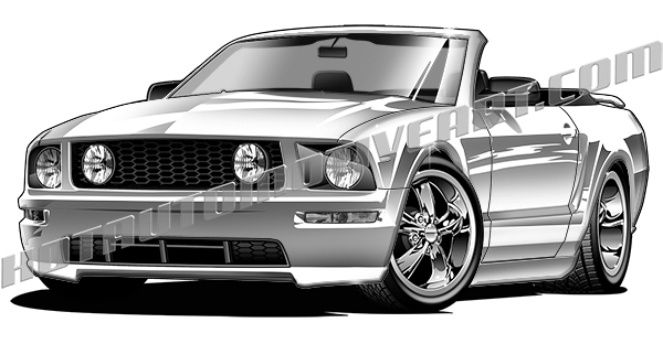 2006 mustang gt convertible clip art buy two images get