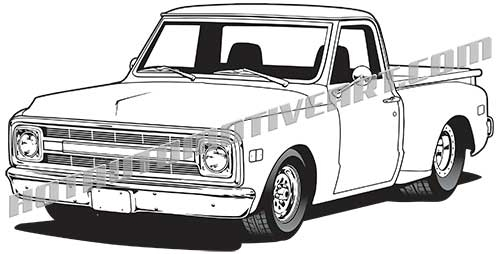 Black And White Vector Chevrolet Nova Pictures to Pin on
