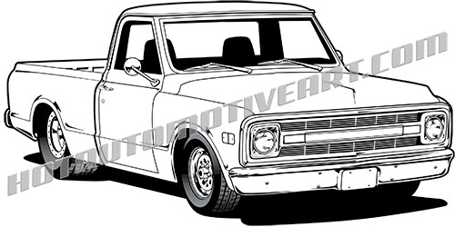 69 chevy truck clipart, buy two images, get one image free