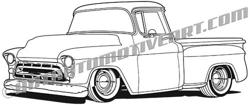 1957 chevrolet custom truck, buy two images, get a third