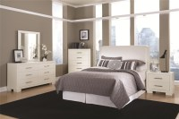 Jessica Padded Headboard Bedroom Set in White Finish by ...