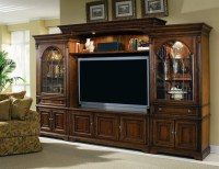 Brookhaven 65-Inch TV Home Theater Wall Unit in Distressed ...