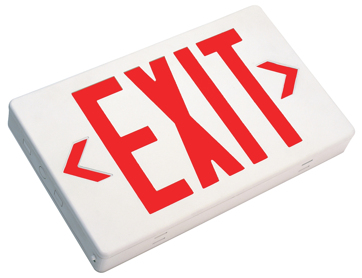 small resolution of nicor 18200 thermoplastic led exit sign view larger photo
